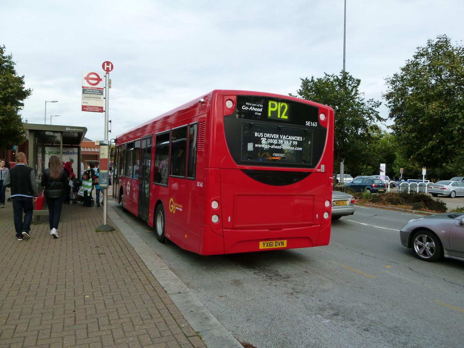 tom london & surrey bus blog: route p12 observations