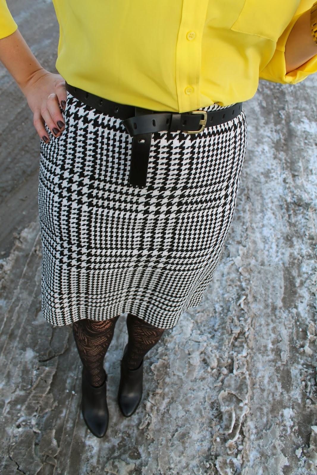 checked, skirt