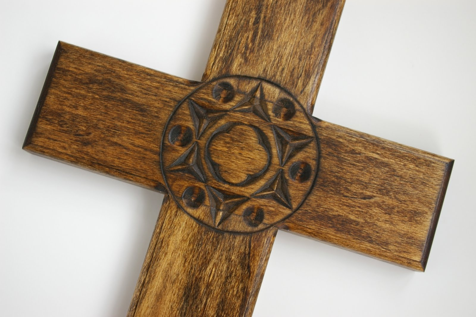 A cross with chip carving during quiet time