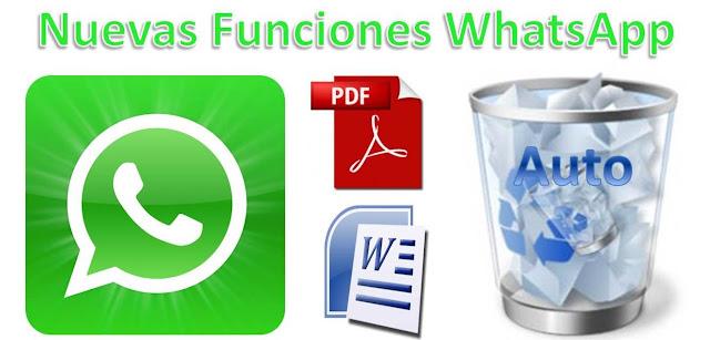 WhatsApp Nuevas Funciones, Adjuntar Archivos PDF, Word