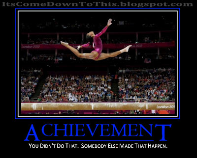 Olympics 2012 Obama you didn't build that somebody else made that happen achievement