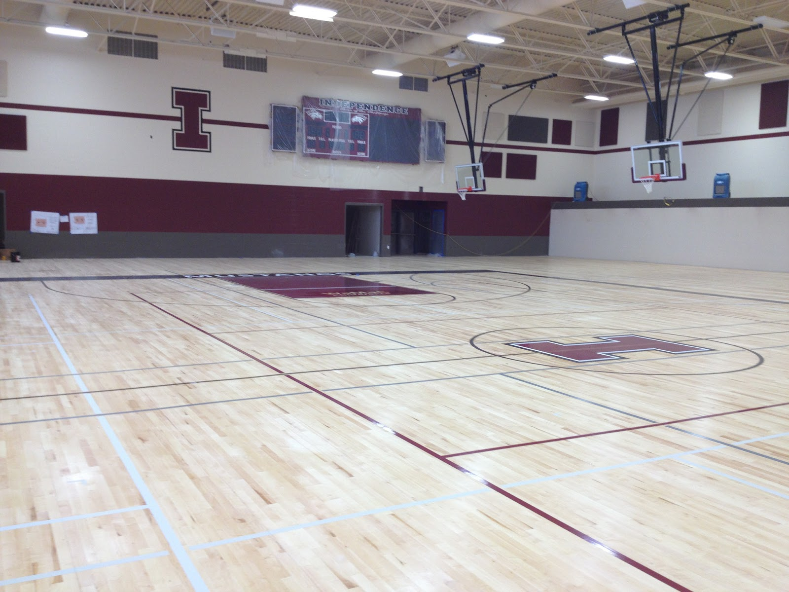 Independence Jr./Sr. High School gymnasium floor