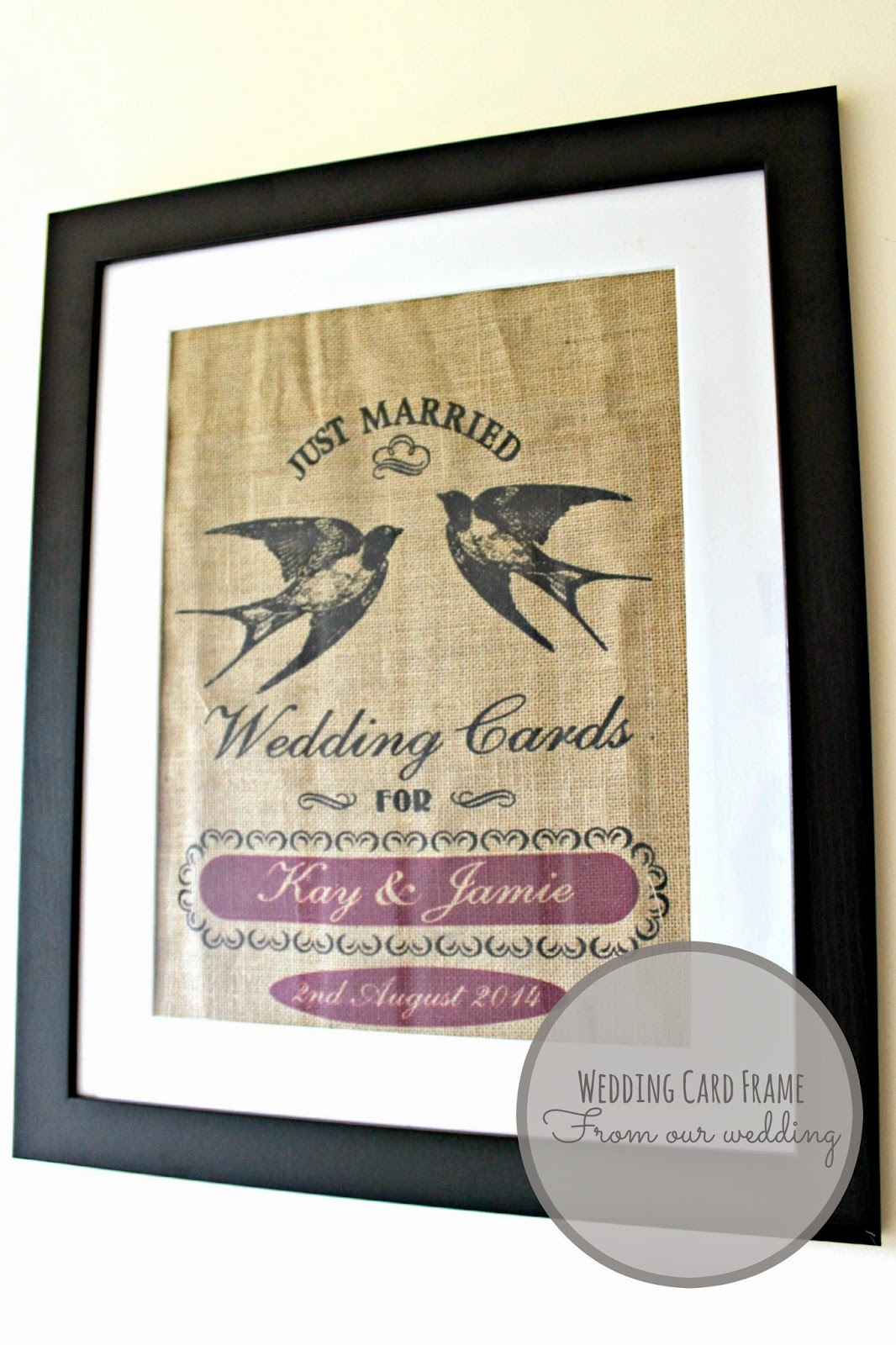 burlap wedding card sack