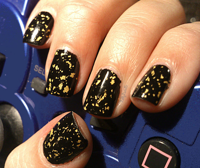 Gold Flake nail polish