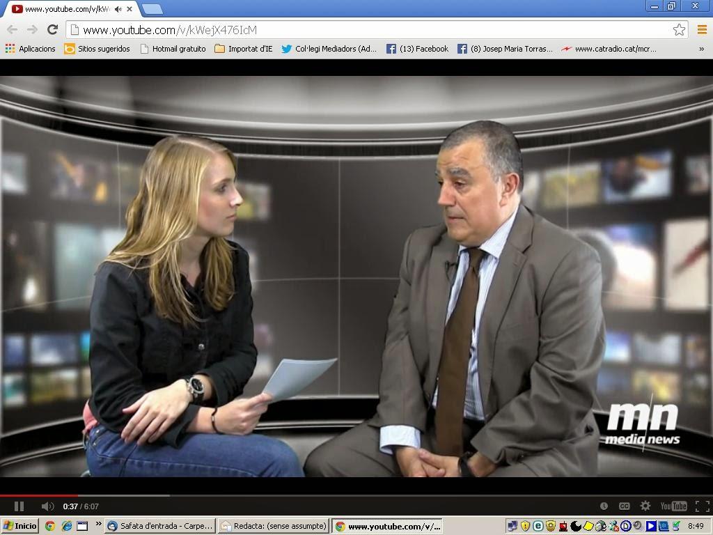 Entrevista a Jordi Triola, president del nostre Col·legi, a MediaNews