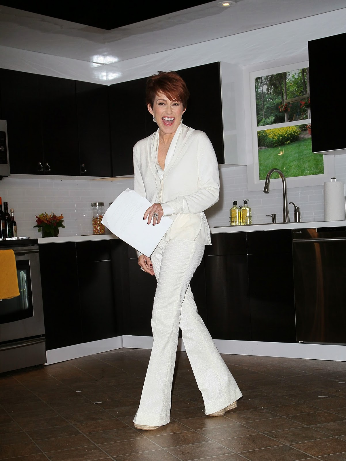 Charming answer Patricia heaton leather pants