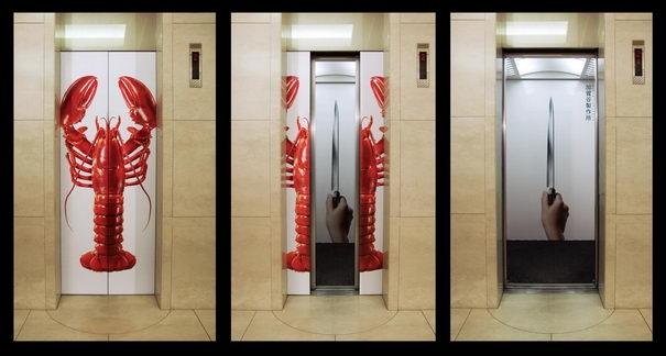 Publicidad Creativa, ascensores, cuchillos Kagatani