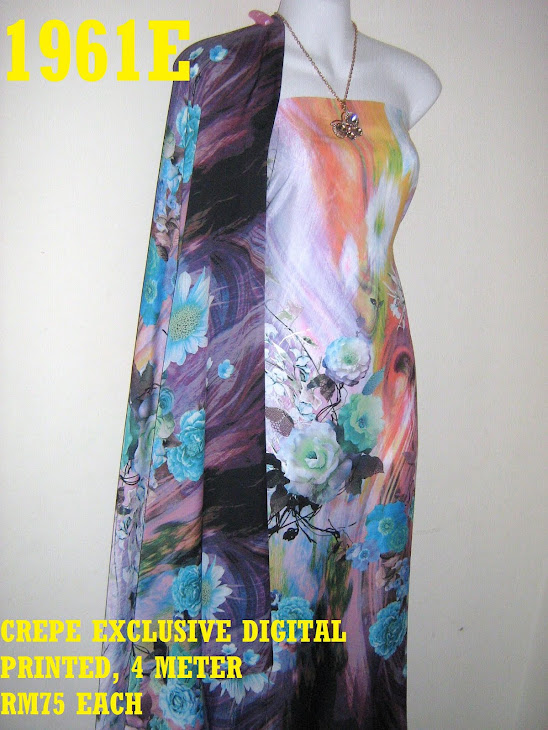 CDP 1961E: CREPE EXCLUSIVE DIGITAL PRINTED, 4 METER