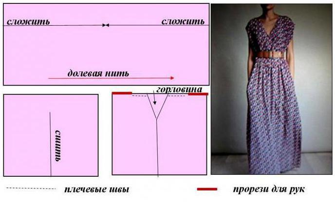 Как сшить платье в пол своими руками быстро