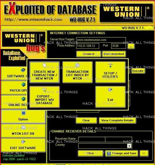 Western Union Hacking Software - Western Union Hackers