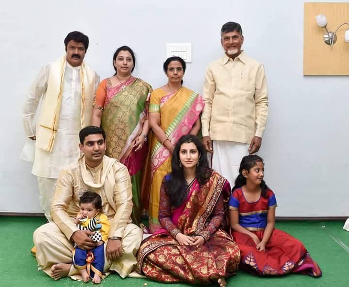 Chandhrababu naidu's Grandson Devaansh Annaprasana Photos