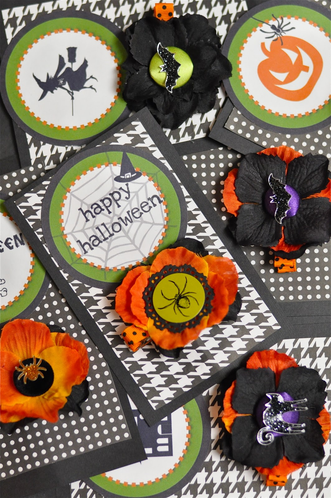 It is a photo of Bewitching Printable Halloween Tags