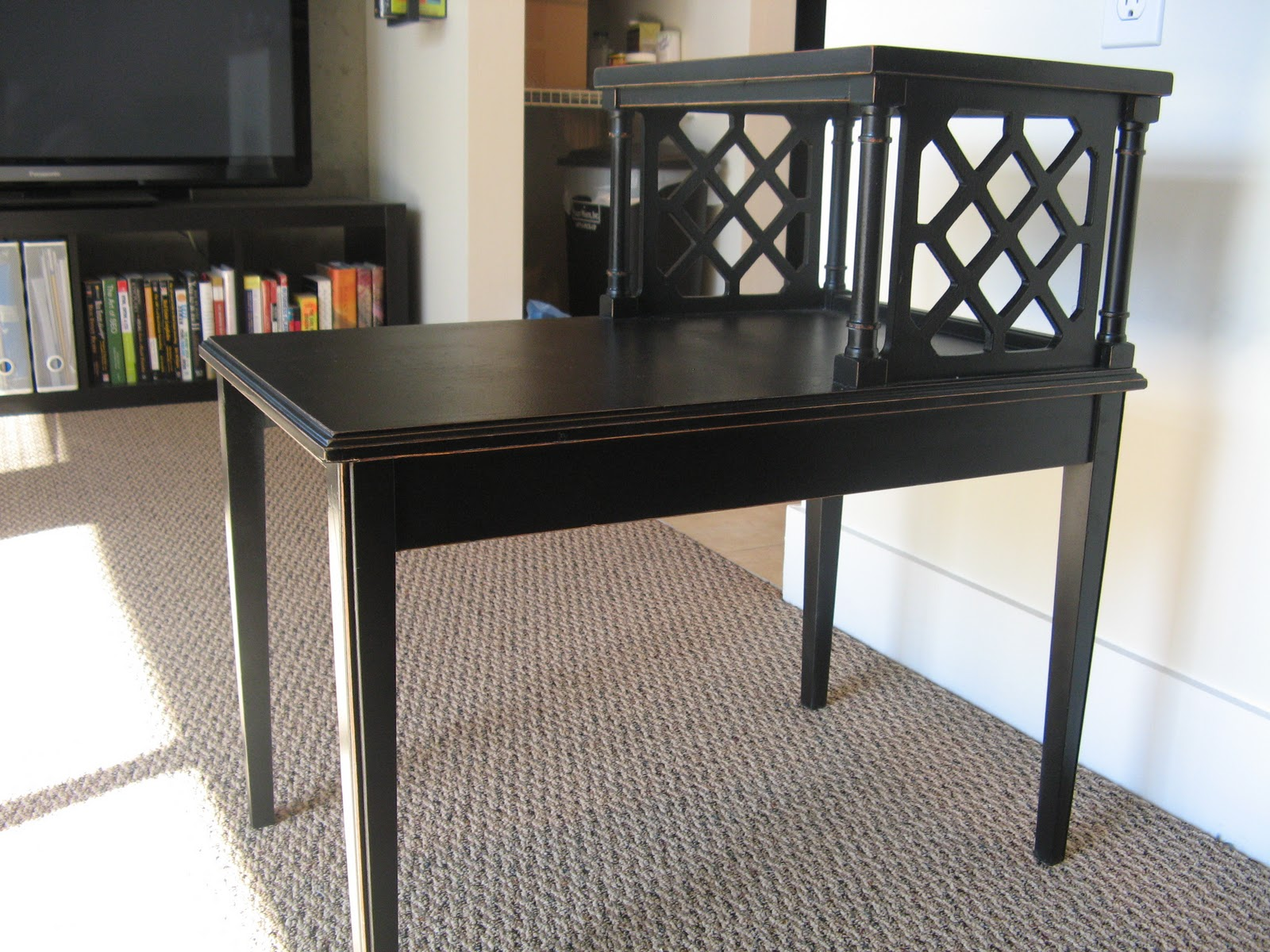 vintage french provincial two tier end table for sale thrifty business phx. Black Bedroom Furniture Sets. Home Design Ideas