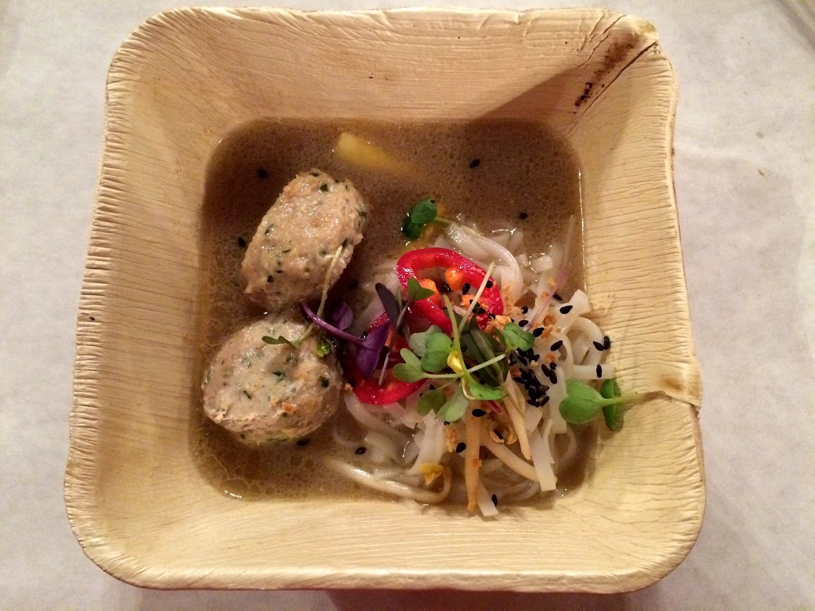 Third Course: Tamarind Stew with Fish Dumplings, Rice Noodles, and Red Chilies