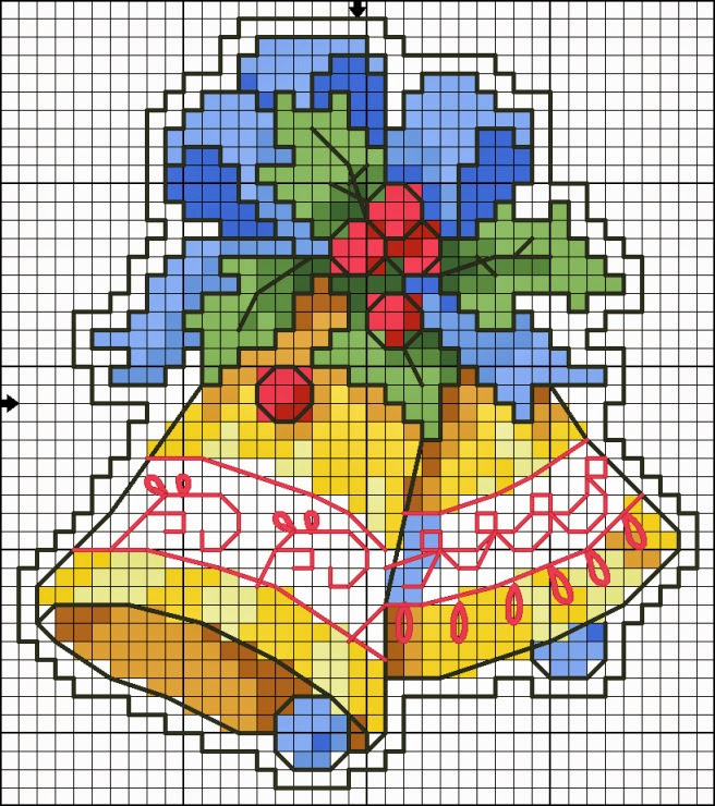 This is a photo of Delicate Free Printable Christmas Ornament Cross Stitch Patterns