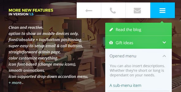 Touchy - A WordPress Mobile Menu Plugin