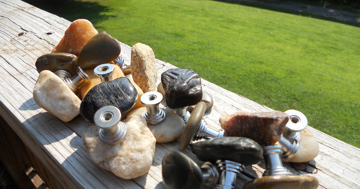 Custom Orders for River Rock Cabinet Knobs and Drawer Pulls | Rock ...