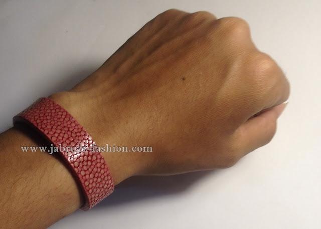Jual Gelang Kulit Pari Merah Muda Original