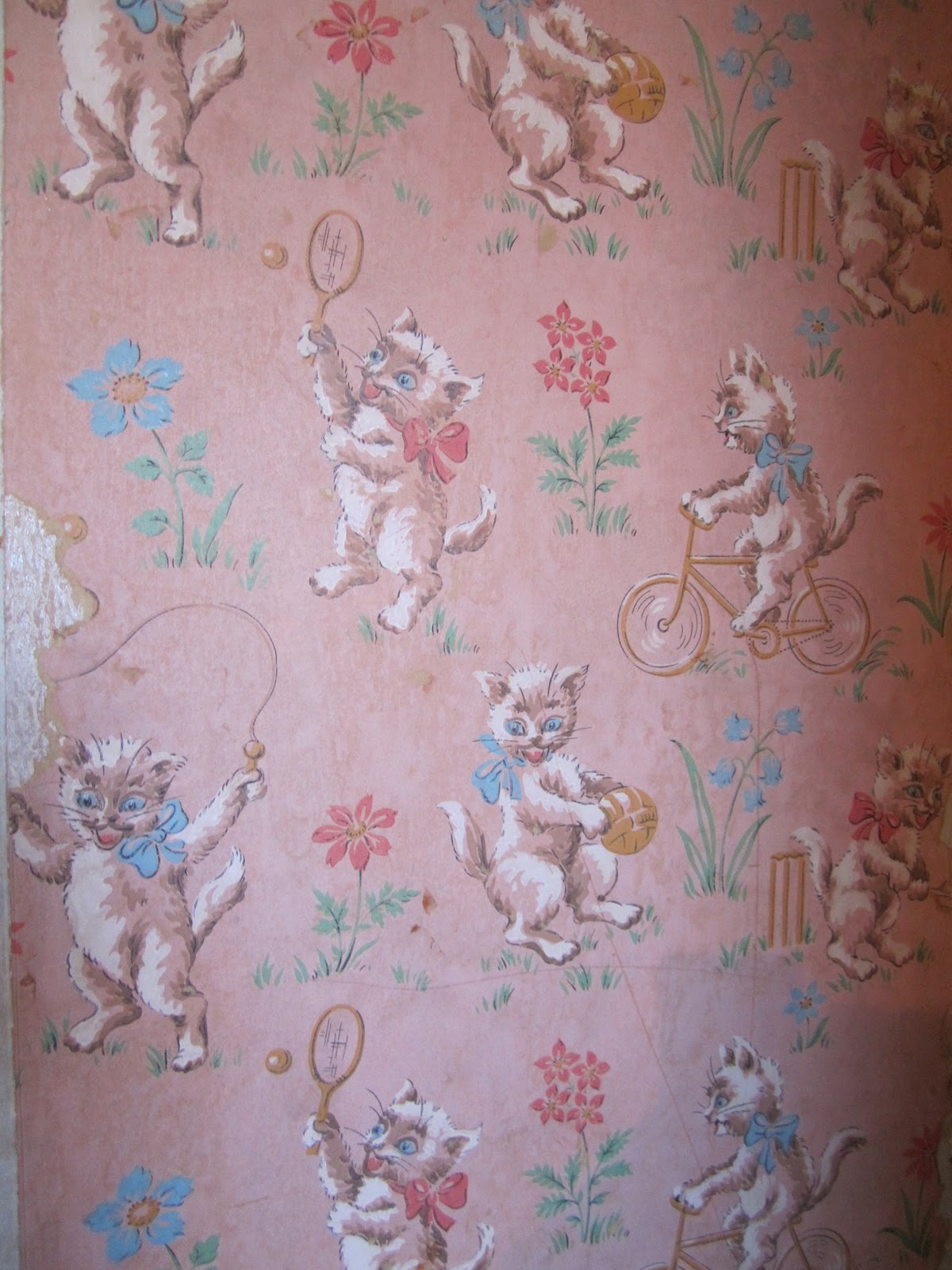 Home Improvements Vintage Cat Wallpaper Sometimes There Just Aren