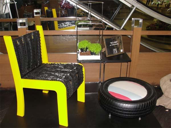 A cadeira EcoHelp em exposição