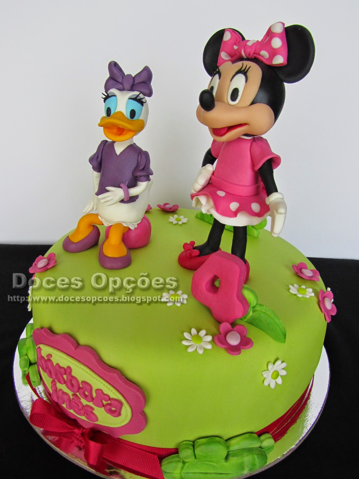 bolo disney junior minnie margarida
