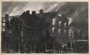 the burning of abolitionist meeting place Pennsylvania Hall