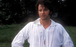 Wet Colin Firth as Mr. Darcy