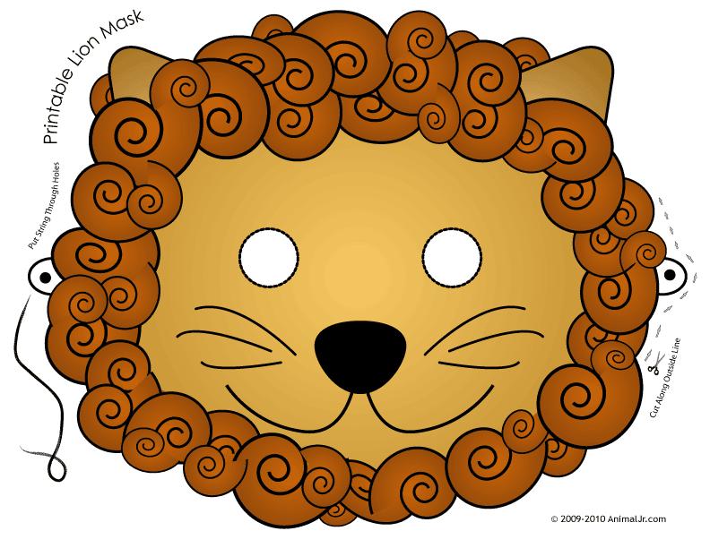 Маска льва своими руками из бумаги