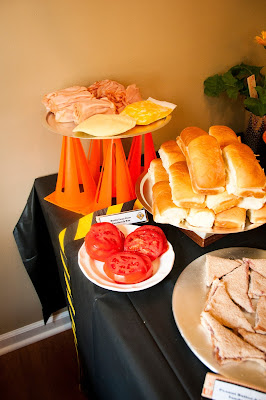 Build Your Own Sandwich Bar for Construction Party