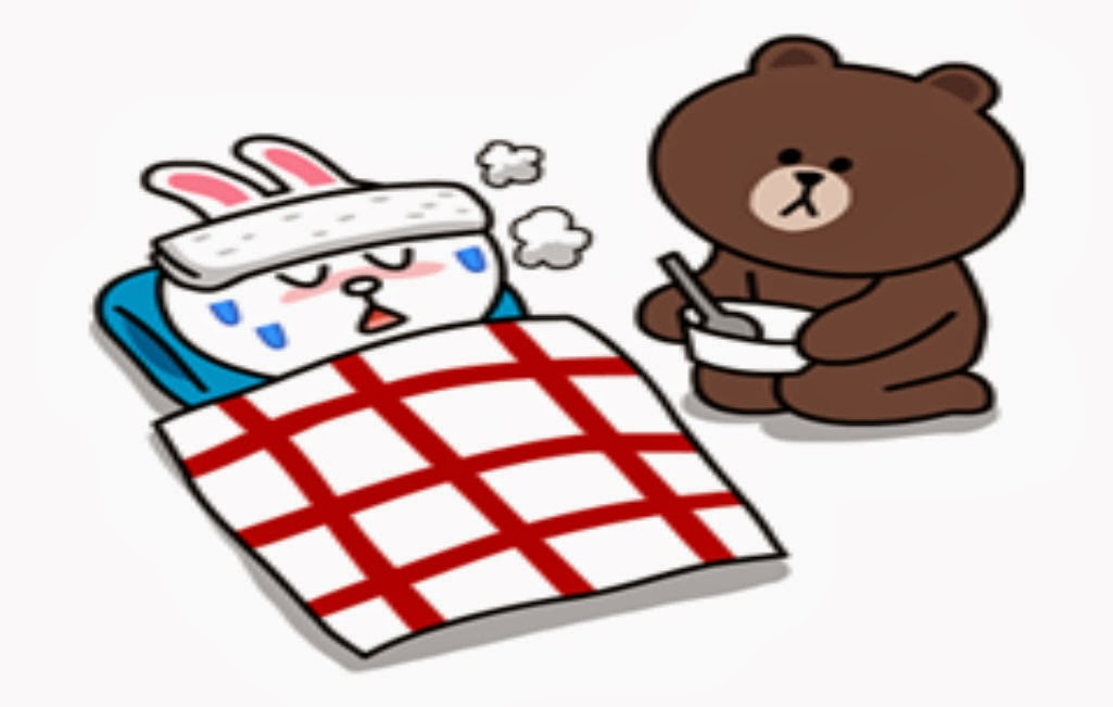 Line Stickers Cony and Brown