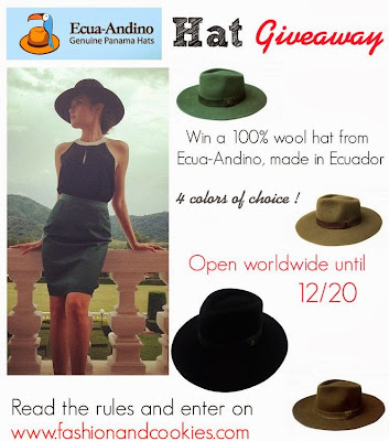 Ecua-Andino Hat Giveaway on Fashion and Cookies, win a $60 worth stylish hat