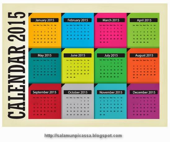Calendar 2015 Notes Vector