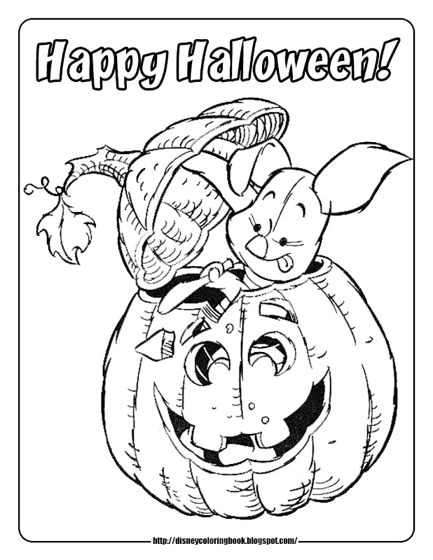 Pooh and Friends Halloween 2: Free Disney Halloween Coloring Pages title=