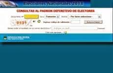 Consulta del Padrón Electoral para las elecciones del 27 de octubre de 2013: dónde votar