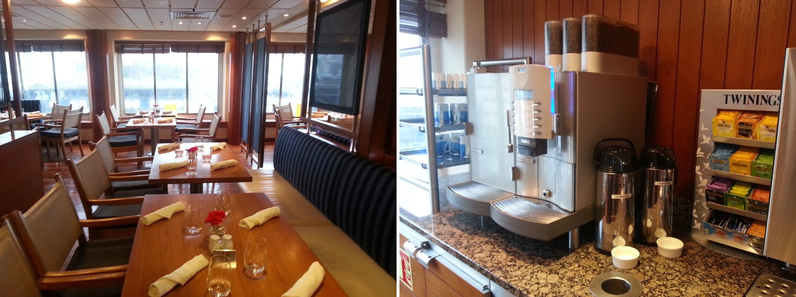 Cruise Ship Saga Pearl II - Verandah Restaurant Drinks Station