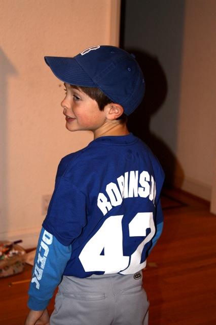 Jackie Robinson Costume Kid
