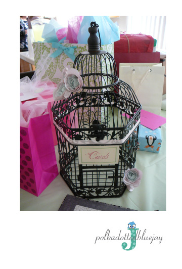 Mint and Pink Wedding Birdcage Cardholder #mintandpink #birdcage #cardholder #wedding