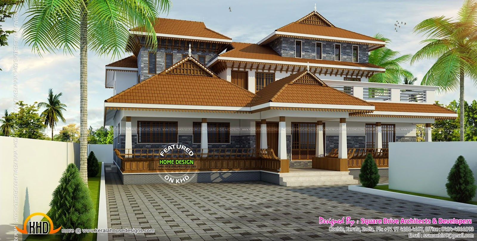 Traditional kerala house kerala home design and floor plans for Kerala traditional home plans