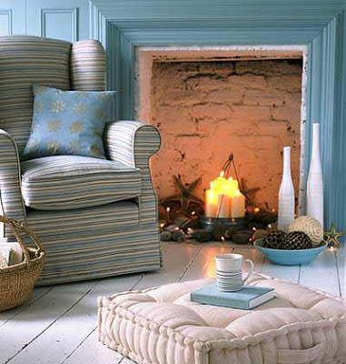 Whether your fireplace is functional or purely decorative Here are some warm-weather ideas for filling your empty fireplace box. & Sure Fit Slipcovers: Fireplace Decorating Ideas For The Spring And ...