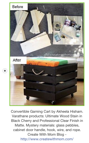 convertible gaming storage cart rustoleum