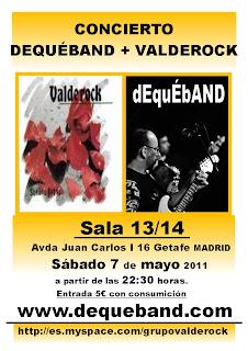 Concierto Valderock y DeQuéBand en Getafe