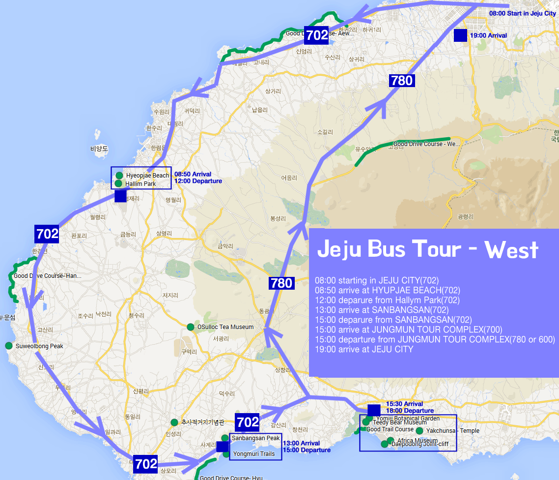 Image result for jeju island bus tour