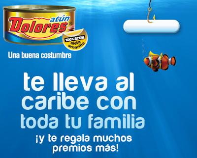 premios viaje al caribe para toda tu familia con todo incluido, laptops, pantallas planas, vales de compra para autoservicios promocion atun Dolores y Mazatún te llevan al Caribe Mexico 2011
