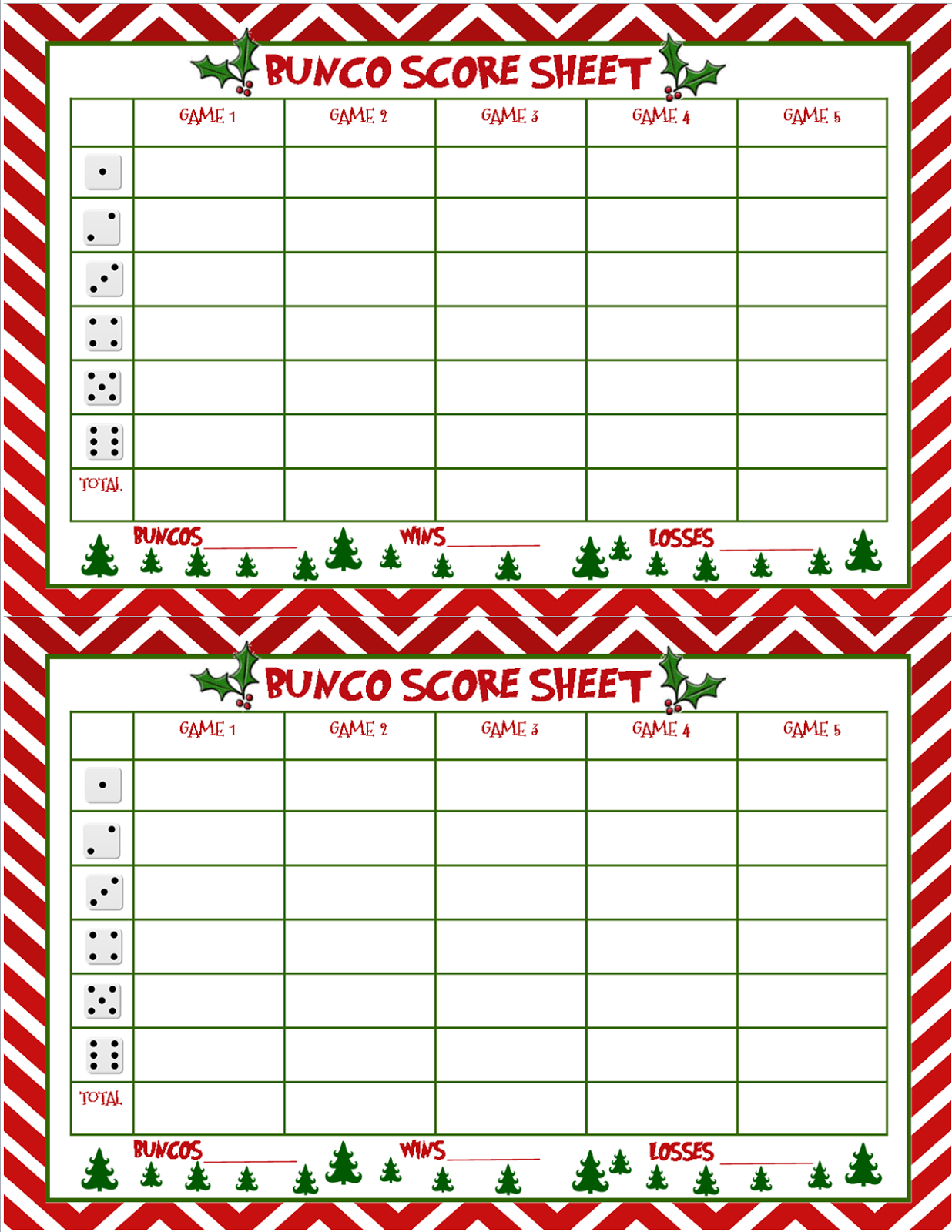 Fabulous image regarding printable bunco sheets