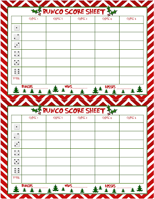 Smart image throughout printable bunco score cards