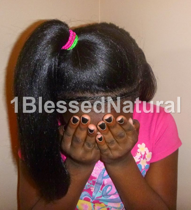 Copyright 2015 1BlessedNatural - cornrow and ponytail style