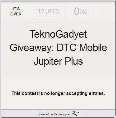 TeknoGadyet Giveaway: DTC Mobile Jupiter Plus Winner