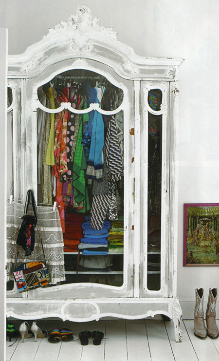 Unexpected interiors bohemian chic - Armarios vintage barcelona ...
