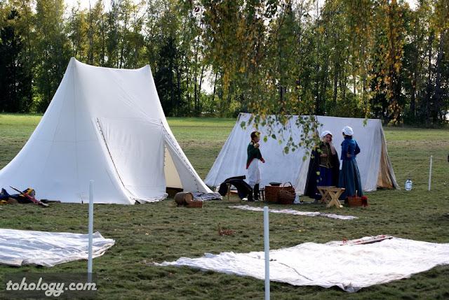 палаточный городок на реконструкция Бородинского сражения 200 лет