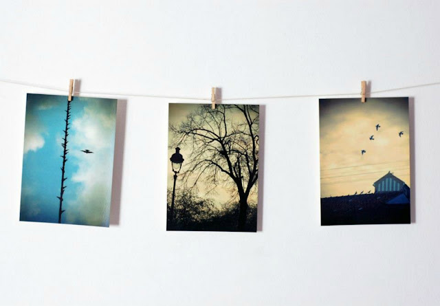 Set of 3 photo postcards - Citizen skies by Mundo Flo